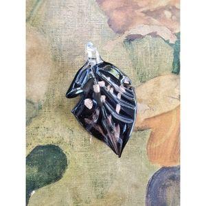 Glass Leaf Pendant